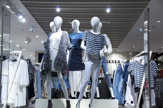 mannequins in a department store
